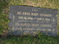 Sr Edna Mary Leonarde
