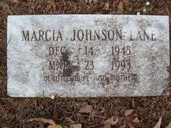 Marcia <I>Johnson</I> Lane