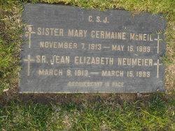 Sr Jean Elizabeth Neumeier