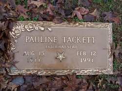 Pauline <I>Kielhafner</I> Tackett
