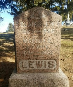 Martha E <I>Beardsworth</I> Lewis