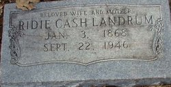 Ridie <I>Cash</I> Landrum
