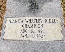 Juanita Whatley <I>Ridley</I> Champion