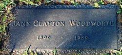 Jane <I>Clayton</I> Woodworth