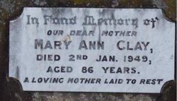 Mary Ann <I>Bowe</I> Clay