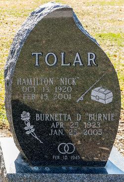 """Burnetta Doris """"Burnie"""" <I>Triplett</I> Tolar"""
