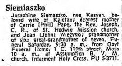 Josephine <I>Kasyan</I> Siemiaszko