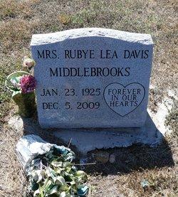 Rubye Lea <I>Davis</I> Middlebrooks