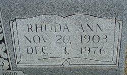 Rhoda Ann <I>Tate</I> Chism
