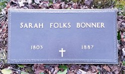 Sarah F <I>Folks</I> Bonner