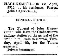 John Henry Hague-Smith