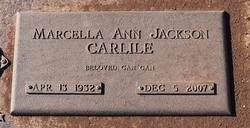 Marcella Ann <I>Jackson</I> Carlile
