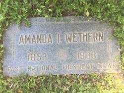 Amanda I. <I>Wilson</I> Wethern