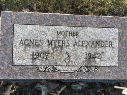Agnes <I>Myers</I> Alexander