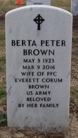 Bertha P Brown