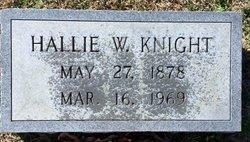 Hallie W Knight