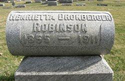 Henrietta <I>Dronberger</I> Robinson