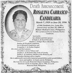 Rosalina <I>Carrasco</I> Candelaria