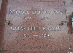 Louise <I>Ponti</I> Aliverti