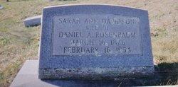 """Sarah Ann Lee """"Miss Annie"""" <I>Davidson</I> Rosenbaum"""