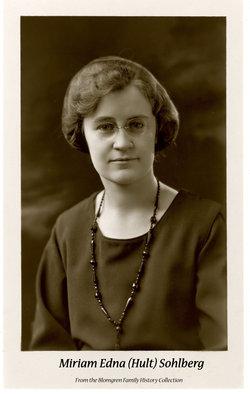 Miriam Edna <I>Hult</I> Sohlberg