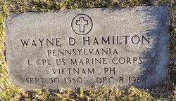 LCpl Wayne David Hamilton