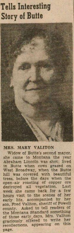 Mary <I>Rea</I> Valiton