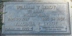 "William Thomas ""Bill"" LeRoy"