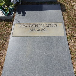 Ruby <I>Patridge</I> Snipes