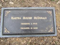 Martha <I>Murphy</I> McDonald