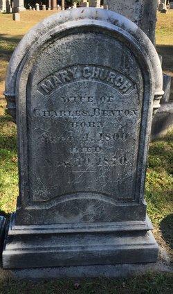 Mary <I>Church</I> Benton