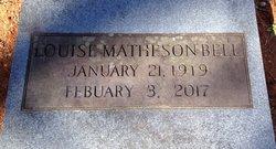 Eva Louise <I>Matheson</I> Bell
