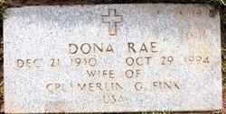 Dona Rae <I>Holman</I> Fink