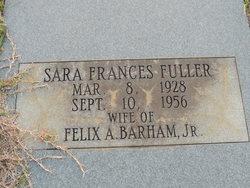 Sara Frances <I>Fuller</I> Barham