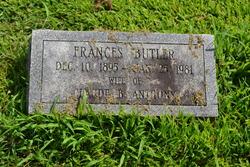 Frances <I>Butler</I> Anthony