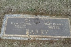 Mary <I>Carney</I> Barry