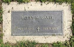 Betty M Davis