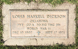 PVT Louis Haskell Dickson