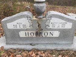 Mattie <I>Vaughns</I> Horton