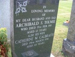 Catherine M <I>Galbraith</I> Tolmie