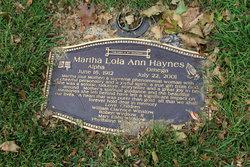 Martha Lola Ann Haynes