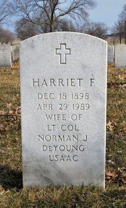 Harriet F DeYoung