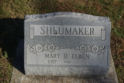 Mary D. <I>Elben</I> Sheumaker