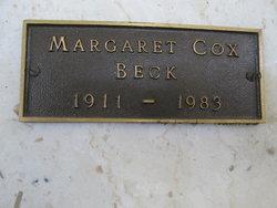Margaret <I>Cox</I> Beck