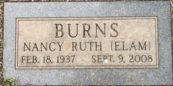 Nancy Ruth <I>Elam</I> Burns