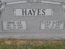 Ophie Lee <I>Keith</I> Hayes