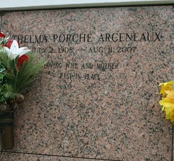 "Thelma ""Maw"" <I>Porche</I> Arceneaux"