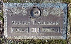 Marian P <I>Bingaman</I> Alleman