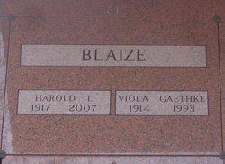 Harold L Blaize