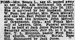 Bessie Leona <I>Metcalf</I> Foss